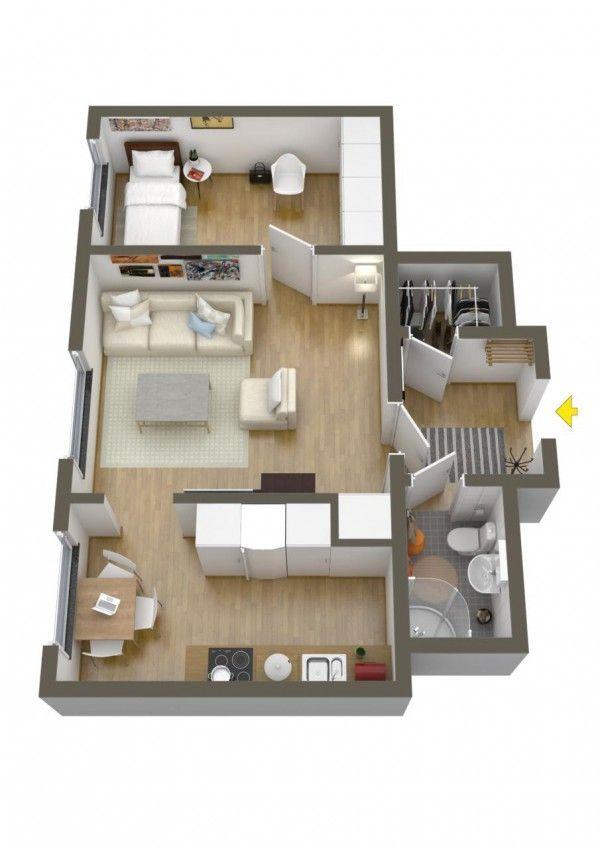 . 190 best 1 bedroom floor plans images on Pinterest
