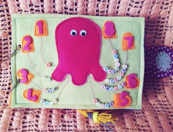 Activity 2 - Octopus, how many legs you have?   * counting the beads * Communication & tell a fact about octopus * Shape of numbers ( refine motor skills ) #busybook