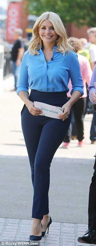 Holly Willoughby shows off her sensational derriere in tight trousers
