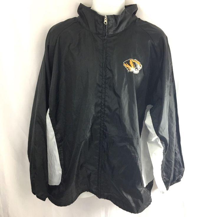 Mizzou Tigers Windbreaker Jacket Mens Size Medium Genuine Stuff GS Missouri  | eBay