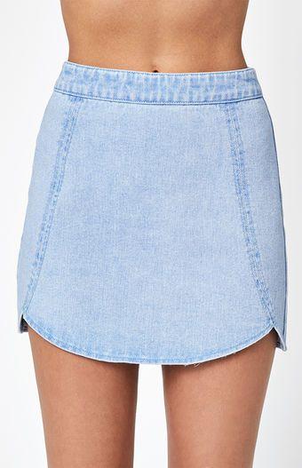 Tulip Denim Mini Skirt