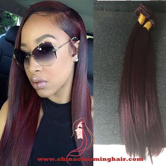 The 25 best wine red hair color ideas on pinterest wine red 99j brazilian hair wefts wine red straight hair extensions 100 virgin human hair bundles unprocessed pmusecretfo Choice Image