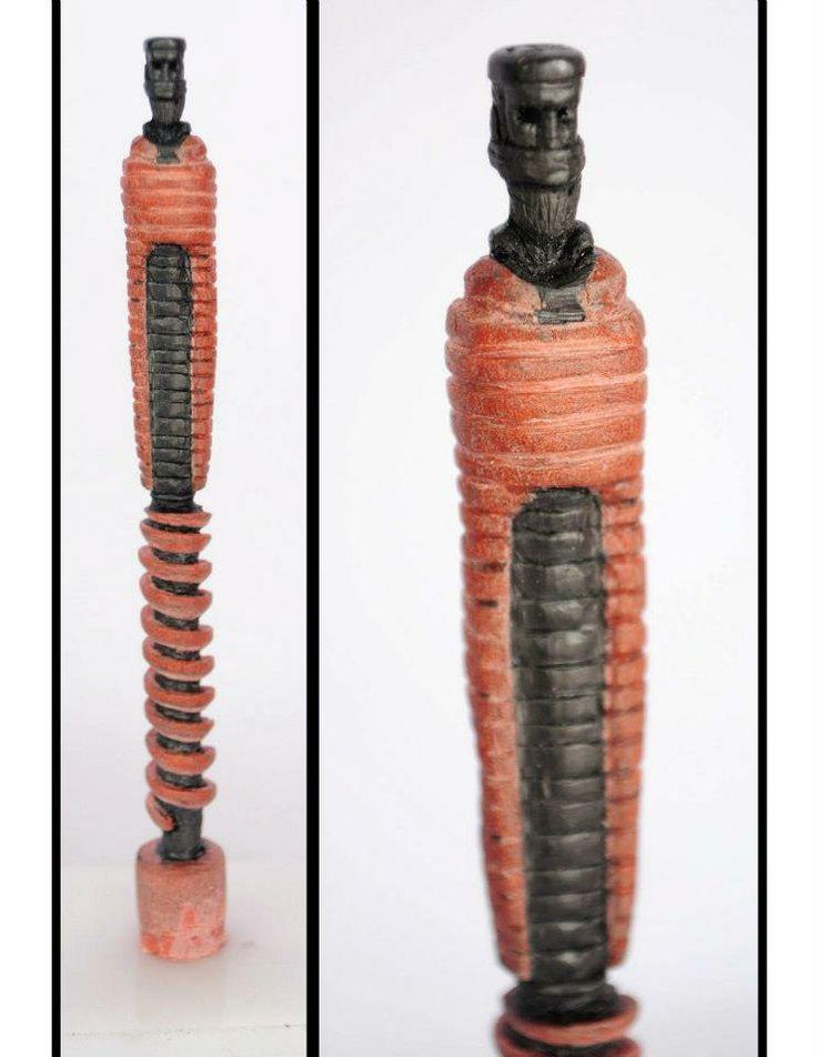 Quot say no evil sculpture on a pencil lead ミクロアート