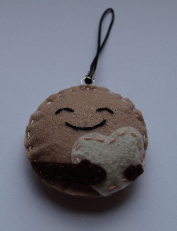 Pluto handmade geeky key ring made from felt