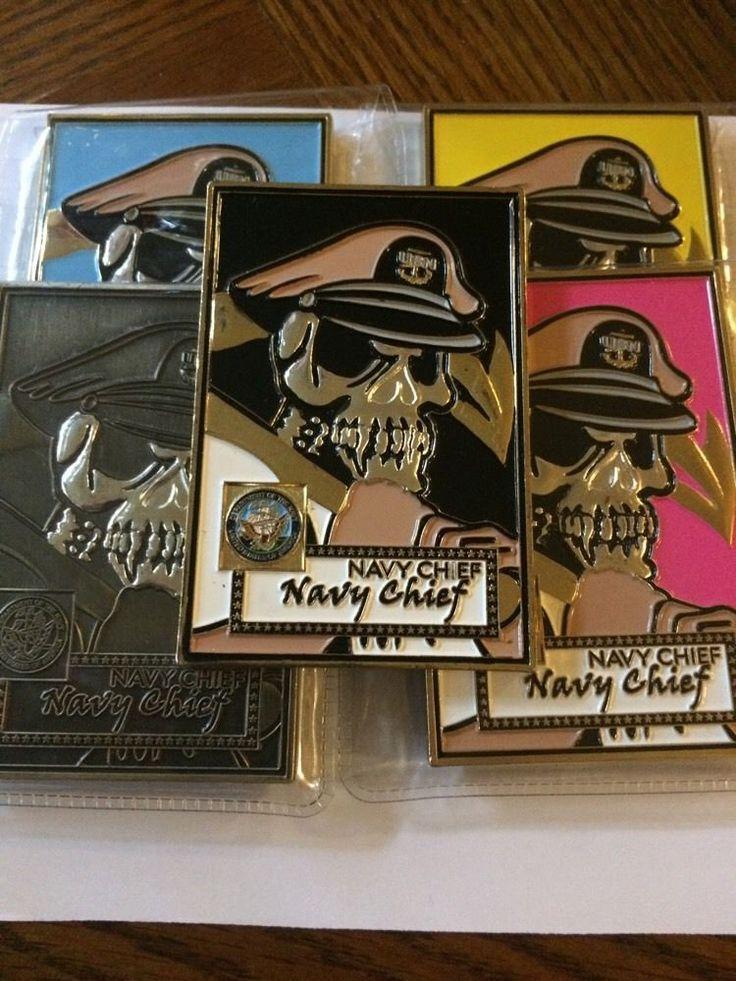 5 Coin Set Navy Chief Baseball Card CPO Pledge Yellow Pink