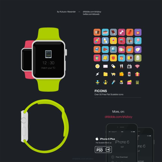 Apple Watch - 365psd  http://goo.gl/rzu8Ch