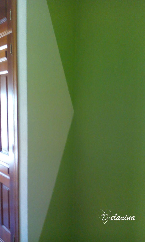 17 mejores ideas sobre pintura geom trica en pinterest - Pintura pared purpurina ...