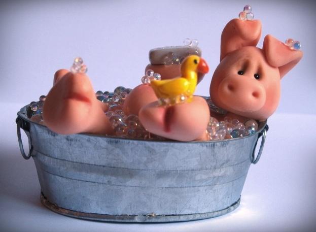 Hog Wash Polymer Clay Sculpt