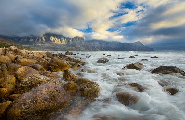 Koégel Bay, Western Cape. One of the best mountains to photograph. Some people are obsessed about Table Mountain but for me this is far better.