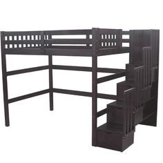 loft bed with couch underneath with steps for adults - Google Search