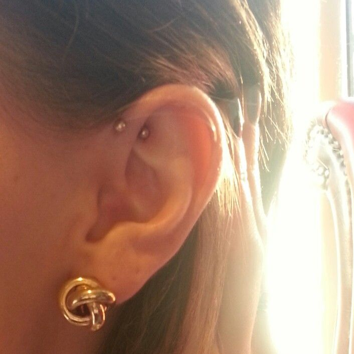 Helix piercing jewelry gold