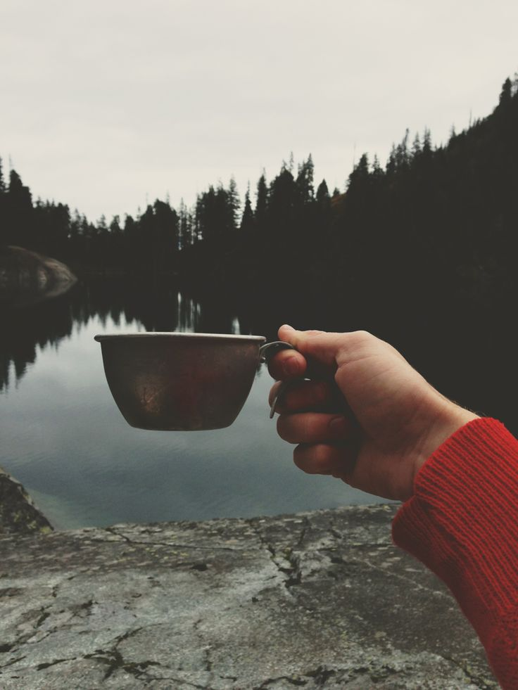 coffee always tastes better in the wilderness
