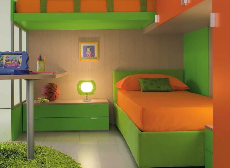 orange and green bedroom – Sistem As Corpecol