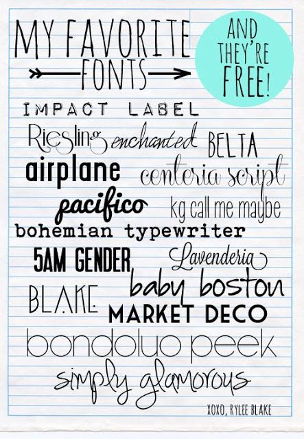 RyleeBlake fonts, favorite fonts, free to download. plus her blog is adorable
