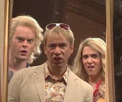 The Californians (Bill Hader, Fred Armisen, Kristen Wiig).