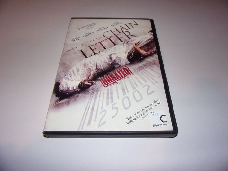 Chain Letter (DVD, 2009, Unrated) Horror / Gore / Nikki Reed #Image