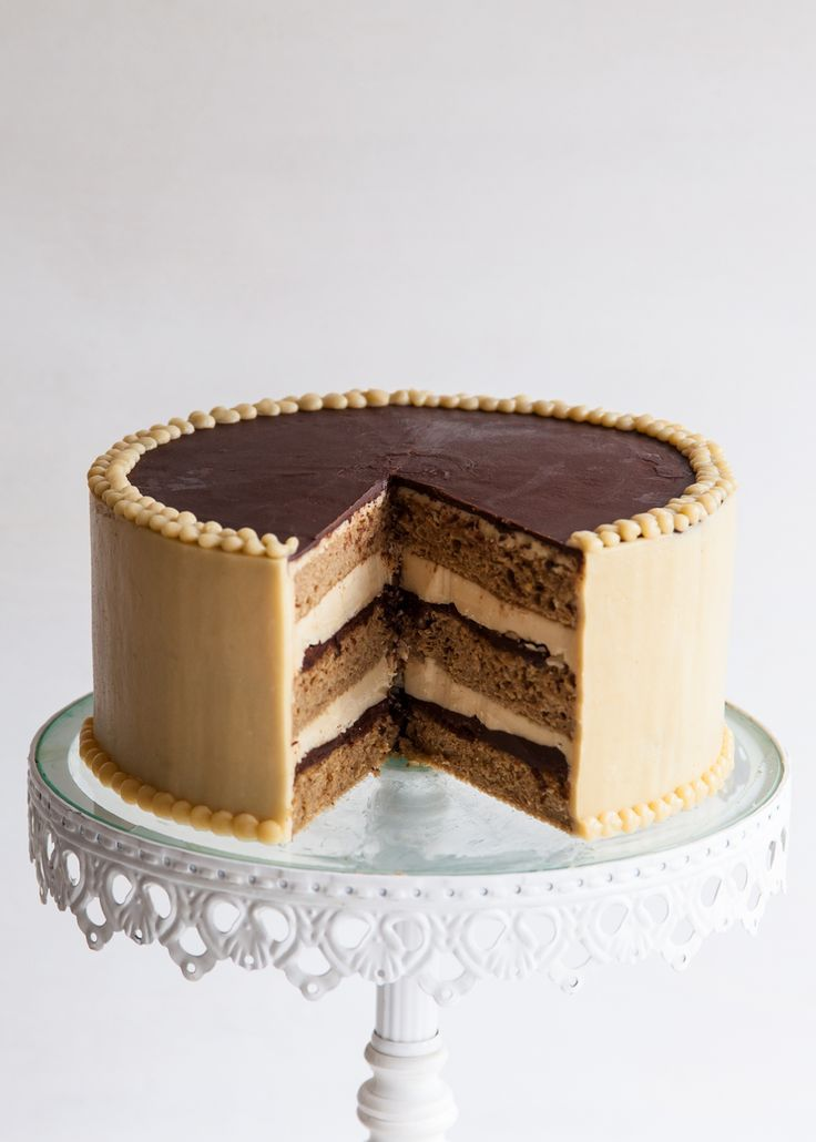 """French Opera Cake from """"Layered"""" cookbook."""