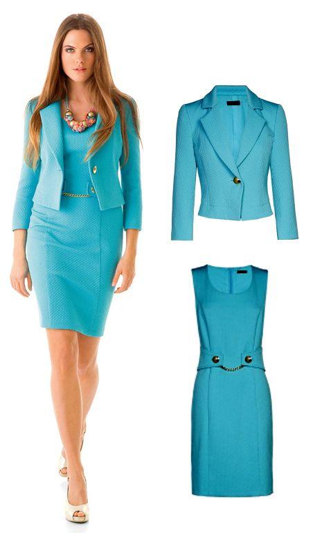 L1, Z1: Pakje van Caroline Biss. Jasje 240 euro, jurk 225.