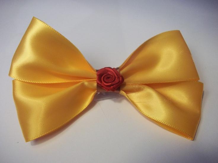 Belle Inspired Disney Bow $7
