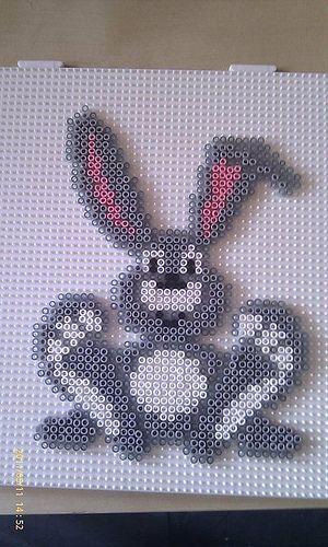 Easter rabbit hama perler beads by Pernille Henriksen:
