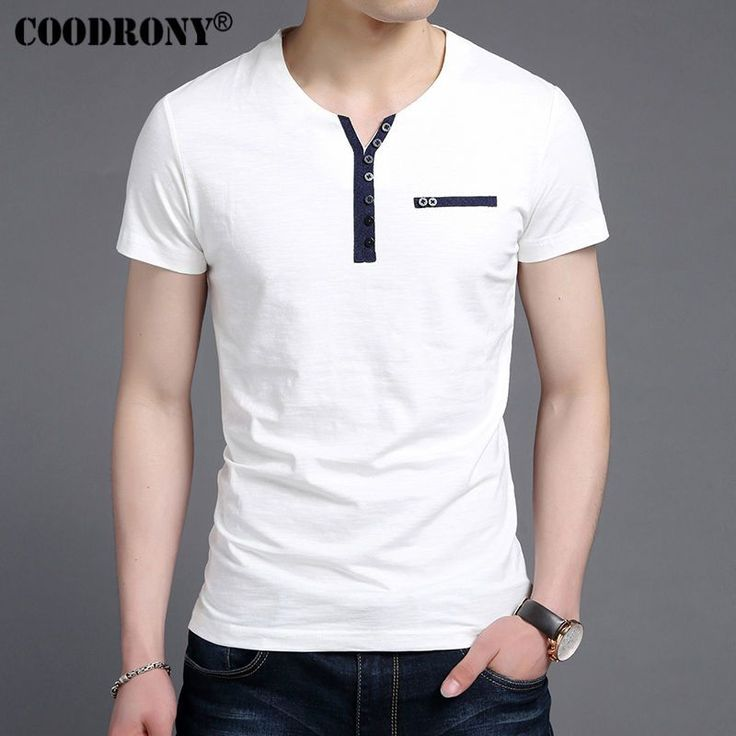 Henry Collar Tee Shirts Short Sleeve T-Shirt Men Pure Cotton T Shirt Homme     Tag a friend who would love this!     FREE Shipping Worldwide     Get it here ---> https://onesourcetrendz.com/shop/all-categories/mens-clothing/mens-t-shirts/henry-collar-tee-shirts-short-sleeve-t-shirt-men-pure-cotton-t-shirt-homme/