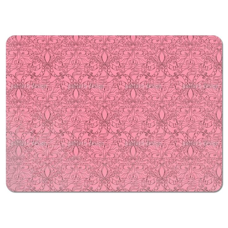 Uneekee Spiritual Loopies Pink Placemats (Set of 4) (Spiritual Loopies Pink Placemat) (Polyester)