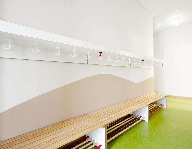 Kita am Lohsepark_Garderoben Kita, Design studio, Garderobe