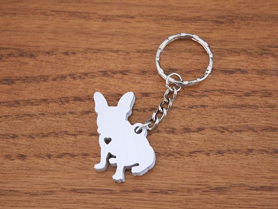 French Bulldog  Metal Keychain by theDuoStudio on Etsy, $15.00