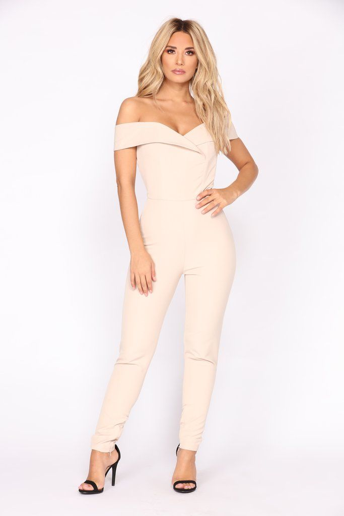 7de2e113ab4 Ana Maria Off Shoulder Jumpsuit - Nude