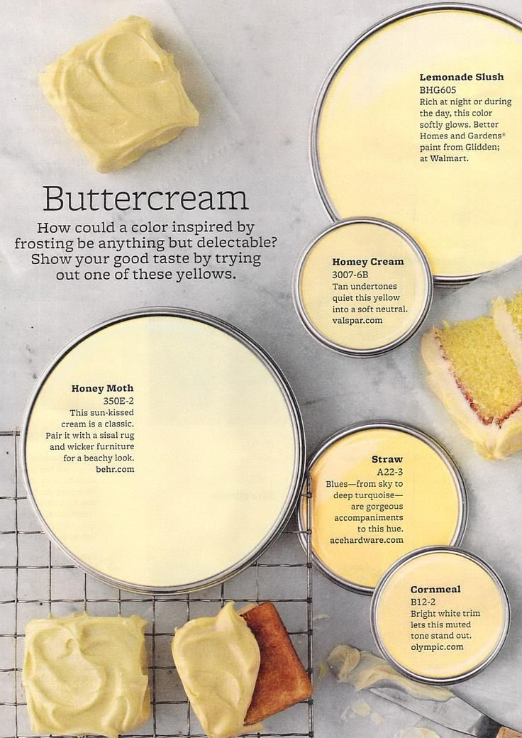 Buttercream Paint Colours