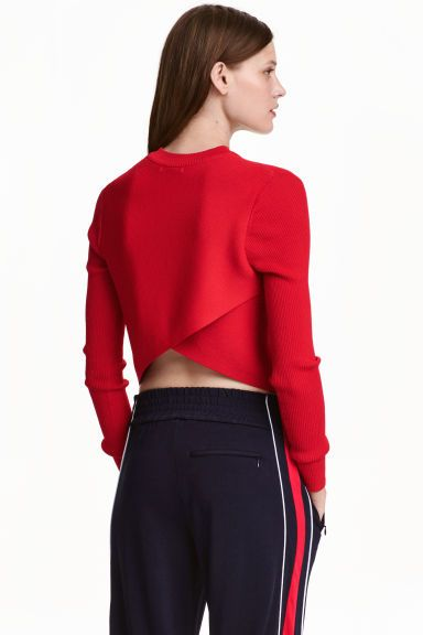 Ribbed wrapover jumper | H&M