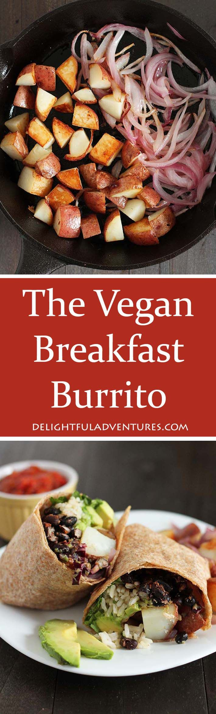 "Love breakfast burritos? Well, you're going to love this Vegan Breakfast Burrito recipe from the Minimalist Baker's new recipe book ""Everyday Cooking: 101 Entirely Plant-based, Mostly Gluten-Free, Easy and Delicious Recipes!"""