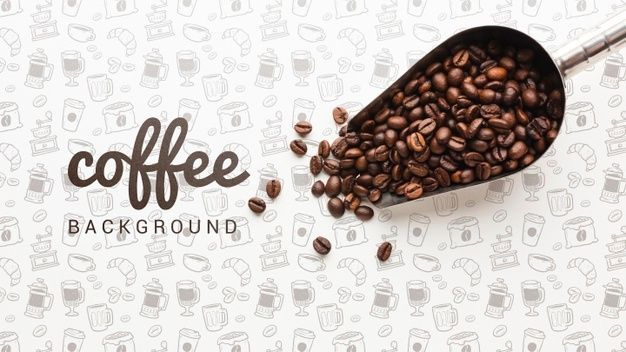 Download Simple Wallpaper With Coffee Beans For Free In 2020 Coffee Wallpaper Coffee Wallpaper Iphone Simple Wallpapers