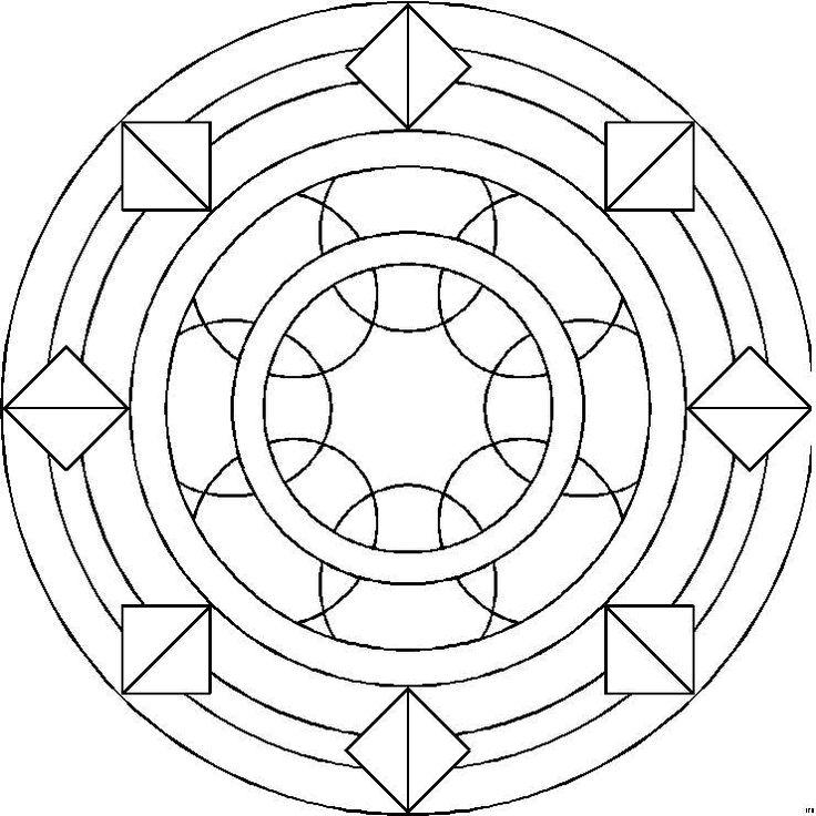 72 best Mandala kleurplaten images on Pinterest | Adult coloring ...