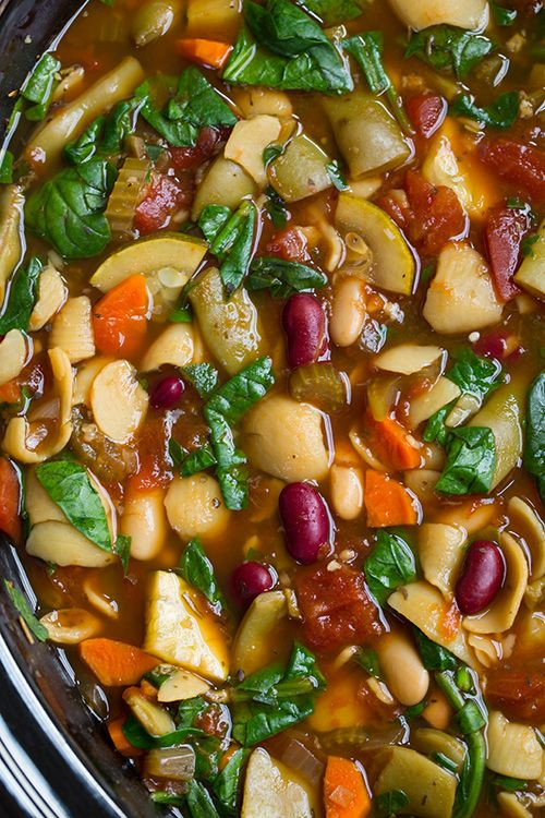 Olive Garden Minestrone Copycat Recipe {bonus it's made in the slow cooker!} | Cooking Classy