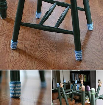 Knit Chair Socks To Protect Wood Floors From Chair Scraping