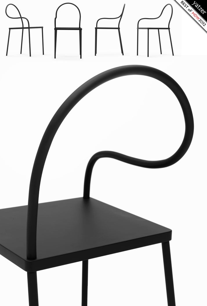 MELT chair by Nendo's debut K% 'Black & Black' collection
