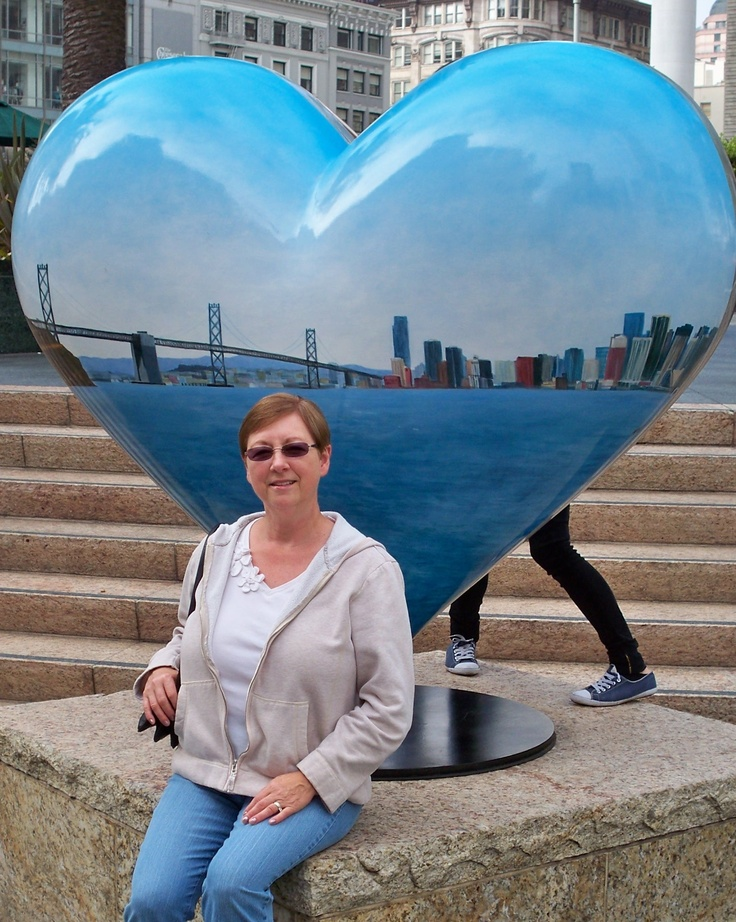 """Photo titled, """"The heart of San Francisco"""" of his wife, Karen, by my friend Dan Campbell. Nice Dan!"""