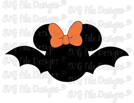 halloween bat minnie mouse monogram frame disney layered cutting file in svg eps dxf - Disney Halloween Photos