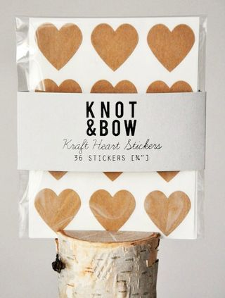 Stickers coeur knot and bow