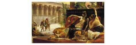 Cleopatra VII, Queen of Egypt, Trying out Poisons on Prisoners Condemned to Death, 1887 Impression giclée