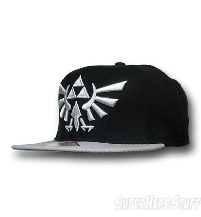 Zelda Crest Flat Bill Snapback Cap from superherostuff.com  I like my hats without sports team logos on it(: this is cool!
