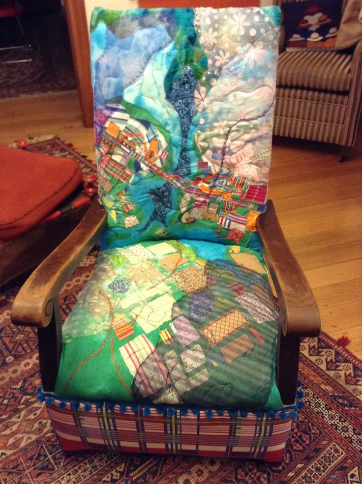 Leven's Seat - armchair inspired by local countryside near my parents' home. Artist - Jane Roberts