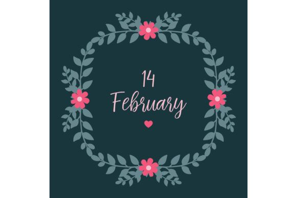 Simple 14 February Greeting Card Design Graphic By Stockfloral Creative Fabrica In 2020 Card Design Greeting Card Design Greeting Card Template