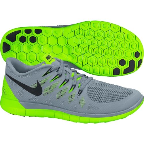 Cheap Nike Mens Free 5.0 Running Shoes Electric Green Granite 642198 003