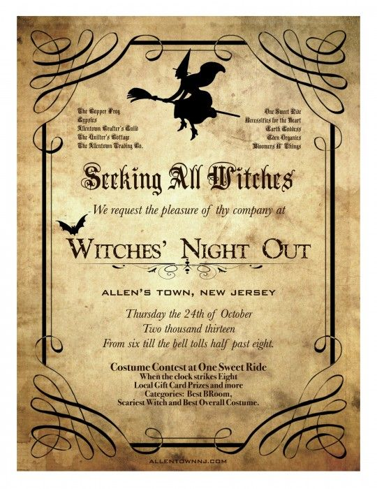 witches night out party ideas - Google Search