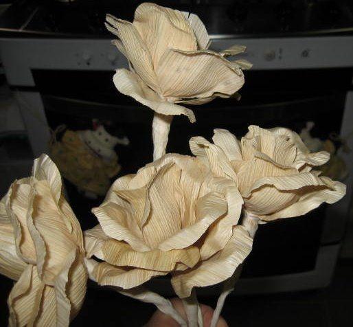 букет цветов из листьев кукурузы - талаша, мастер-класс (20) (514x476, 118Kb)