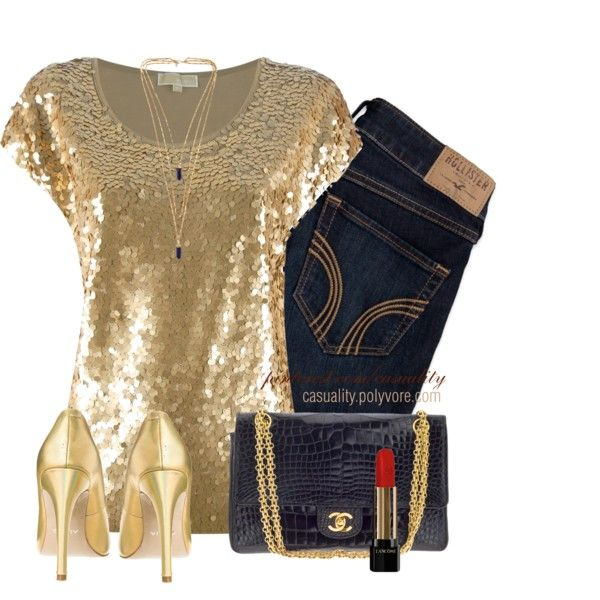 """Sequin & Denim"" by casuality on Polyvore"