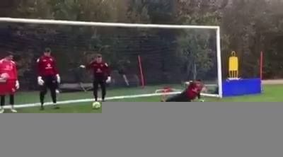 Who said goalkeepers had it easy...  Credit: Walsall FC Official