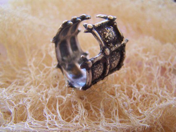 silver handmade satyricon ring by archegono on Etsy